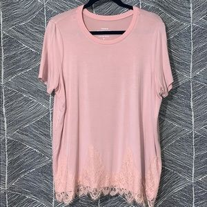 Light Pink Top w/ Lace